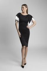 extravagantní šaty černé, bílé