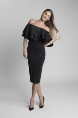 luxusní černé šaty s holými rameny