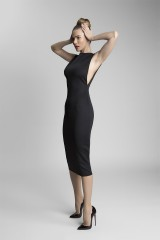 černé sexy společenské šaty