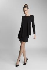 společenské šaty s dlouhým rukávem