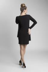 oversize šaty černé